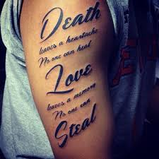 amazing quotes for on shoulder lower back tattoos