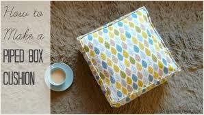 Box Cushion Pads Piped Box Cushion Tutorial Tea And A Sewing Machine