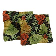 Cushion Patio Chairs by Shop Blazing Needles Tropique Raven Tropical Standard Patio Chair