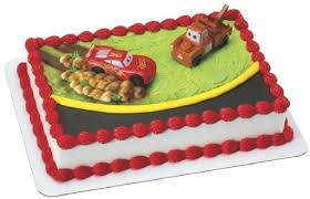 lightning mcqueen cake cars mcqueen and mater cake topper kitchen dining