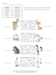baby animals 4 free esl worksheet