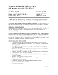 Scanning Clerk Resume Shipping And Receiving Resume 22 Additional Skills Warehouse