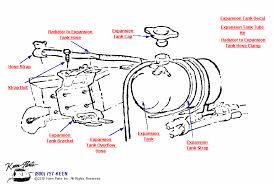 1972 corvette radiator 1969 corvette expansion tank parts parts accessories for corvettes