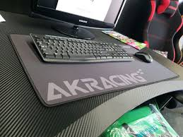 gaming laptop desk ak racing gaming mouse pad grey