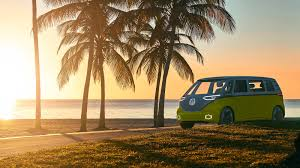 new volkswagen bus yellow electric time machine vw id buzz concept gets production green