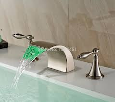 waterfall bathroom sink faucet nickel best bathroom decoration