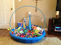 cool easter baskets fill a kiddie pool with treats for kids easter basket