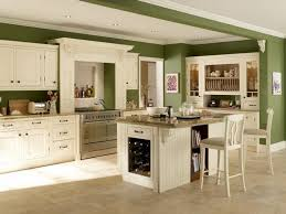 appealing colorful interior wall and cabinets for small kitchen