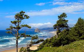 Oregon scenery images Picture usa oregon nature sky scenery coast trees jpg