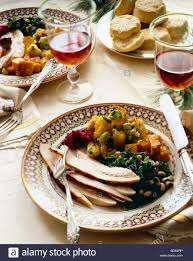 plate of thanksgiving food thanksgiving turkey dinner table stock photos u0026 thanksgiving