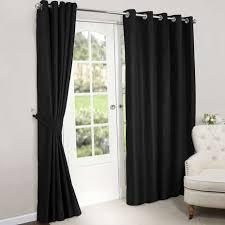 Blackout Curtains Black Black Blackout Lined Eyelet Curtains Dunelm