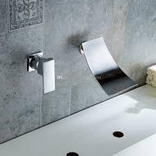 Waterfall Tub Faucet Designs Enchanting Chrome Finish Waterfall Bathtub Faucet Wall