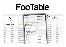 tabellen design footable jquery plugin for responsive html tables ui dev