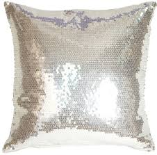 silver sequins accent pillow from pillow decor