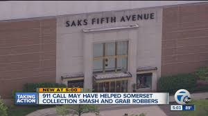 three arrested in smash and grab at saks at somerset collection