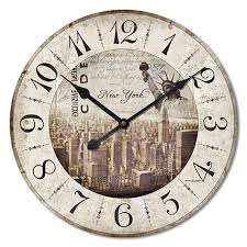 le jardin wall clock shabby chic style from homeguru on etsy