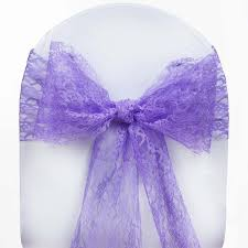 purple chair sashes 5 pcs purple lace chair sashes tie bows catering wedding party