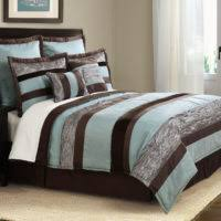 Brown Queen Size Comforter Sets Bedroom Queen Size Bed With Brown Blue And Yellow Bedding