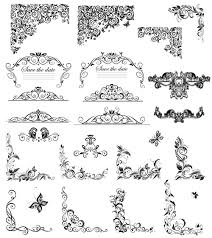 floral ornaments border and corner vector vector floral free