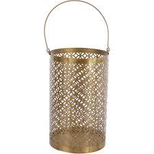 30cm gold tone cylindrical cut out lantern tk maxx home decor