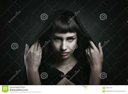 female vampire with beautiful eyes stock photo image 63907442