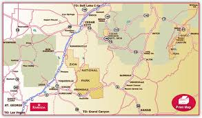 map of southern utah hotel location maps ramada inn st george