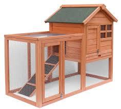 Outdoor Rabbit Hutch Plans Amazon Com Advantek The Stilt House Rabbit Hutch Patio Lawn