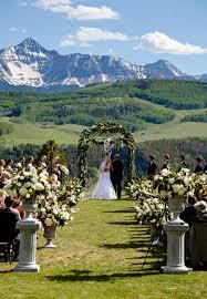 colorado mountain wedding venues a rustic mountain wedding in telluride colorado