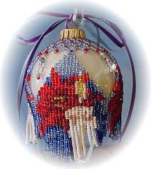 ponsettia ornament cover beading patterns and kits by