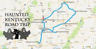 kentucky backroads map the haunted road trip that will lead you to the scariest places in