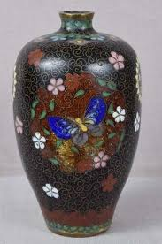 Antique Cloisonne Vases Antiques Regional Art Asian Japanese Enamel Trocadero