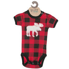 canada souvenirs gifts moose plaid baby onesie