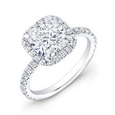Cushion Cut Halo Diamond Engagement Ring In Platinum 99 Best Engagement Rings Images On Pinterest Cushion Cut Halo