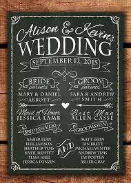 wedding program chalkboard chalkboard wedding program sign printable wedding program wedding
