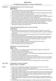 manager resume exles reporting analytics manager resume sles velvet