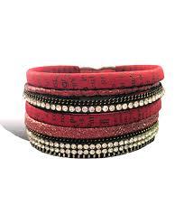 red wrap bracelet images Red crystal 5 line wrap bracelet vivah jewellery jpg