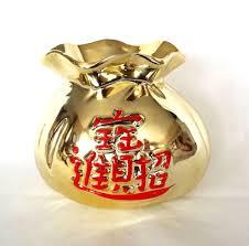 Vintage Vases For Sale Lucky Money Bag Asian Ceramic Planter Chinese Good Luck Feng Shui