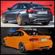 bmw m4 gts vs bmw m3 gts photo comparison