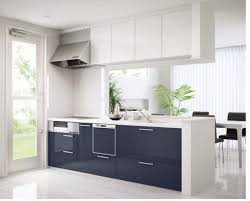 designing small kitchens with simple cooker hood in the corner