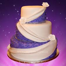 3 Tier Wedding Cake 3 Tier Purple Fondant Wedding Cake Cakecentral Com