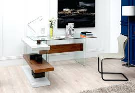 Modern Glass Executive Desk Desk Modern Office Furniture Glass Executive Desks Reception