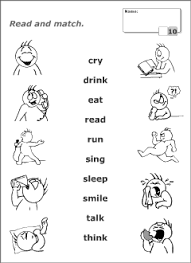 verbs vocabulary for kids learning english printable resources