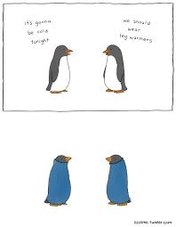 Cute Penguin Meme - awkward everyday lives of animals by simpsons illustrator liz