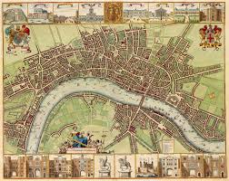 Old World Map Large 17th Century Old World Style Map Of London England Fine Art