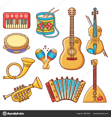 musical instrument vector ornament style stock vector