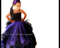 Halloween Costumes Girls Size 10 12 Length Scary Witch Tutu Dress Long Halloween Costume