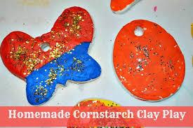 cornstarch clay play play box