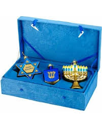 get the deal 50 kurt s adler 3pc noble hanukkah ornament