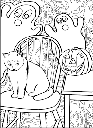 free jack o lantern clipart halloween cat line art with ghost and jack o lanterns vector