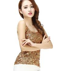 aliexpress com buy spaghetti strap sequin jersey embellished